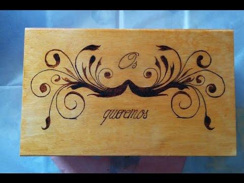 Pirograbados manualidades - Como decorar un joyero de madera ...
