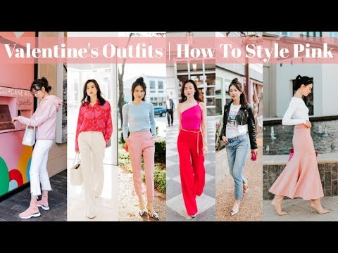 2019 Valentine's Day Outfits Ideas   How To Style Pink видео