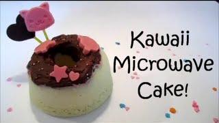 Kawaii Microwave Cake!