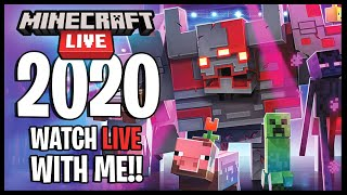 REACTING TO MINECRAFT LIVE 2020!!   MINECRAFT 1.17 REVEAL!! + MOB VOTE!!
