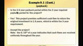 Financial Management: Lecture 19, Chapter 9: Part 1 - Net Present Value