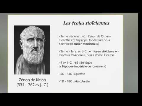 CDS Paris, 17 février 2017, Philosophie antique  4 Les stoïciens