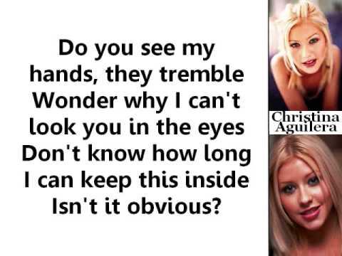 Christina Aguilera - Obvious (Lyrics On Screen)