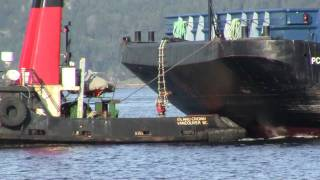 Video Tugboat off Crofton BC towing barge part 2 MP3, 3GP, MP4, WEBM, AVI, FLV Juli 2018