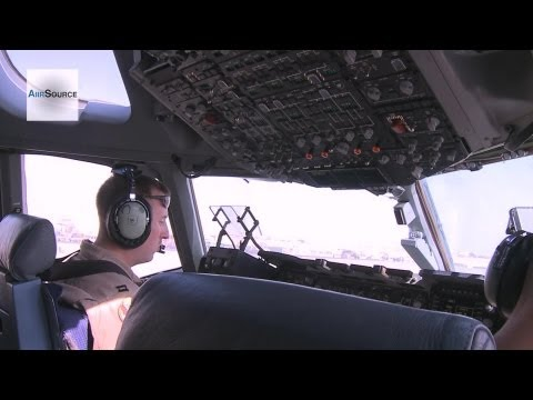 Footage of a U.S. Air Force C-17...