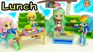 My Little Pony Equestria Girls School Cafeteria + Surprise Shopkins Lunch Box Blind Bags