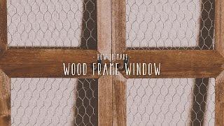 作り方を動画でサポート|木窓風インテリアのDIYレシピが超簡単