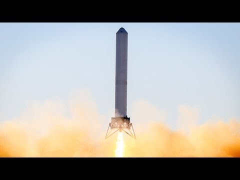 SpaceX's Futuristic Vertical Landing Grasshopper Rocket Makes Record Hop