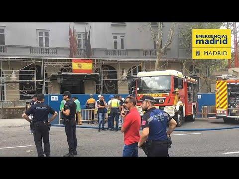 Baugerüst bei Hotelrenovierung in Madrid abgestürzt:  ...