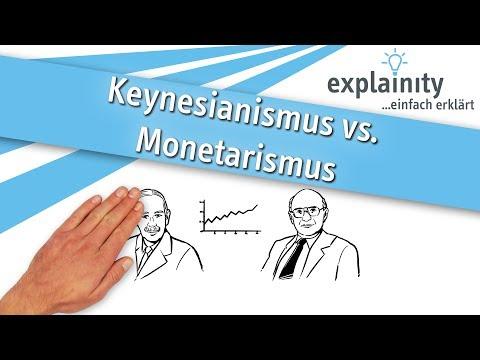 Keynesianismus vs. Monetarismus einfach erklärt