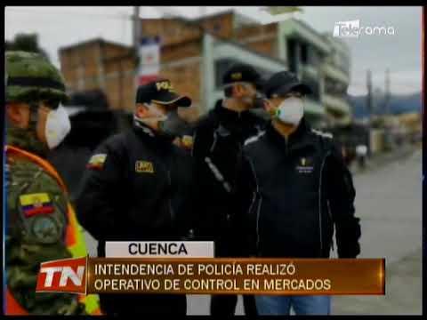 Intendencia de policía realizó operativo de control en mercados
