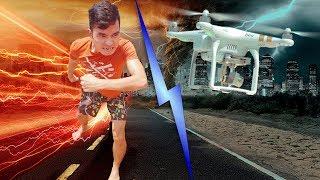PHD | Chạy Đua Với Flycam Gặp Sự Cố Đáng Tiếc | Running
