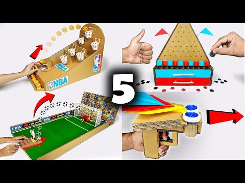 5 Amazing Things You Can Do at Home from Cardboard Games Compilation