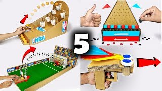 Video 5 Amazing Things You Can Do at Home from Cardboard Games Compilation MP3, 3GP, MP4, WEBM, AVI, FLV November 2018