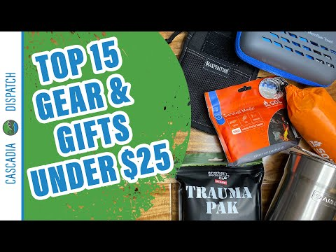 Top 15 Gear Items and Gift Ideas Under $25 - Gift Guide 2020 Part 1 - Prepping for Non-Preppers