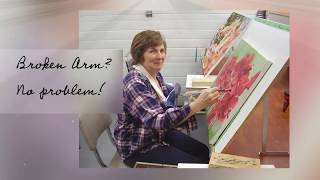 Hidden Talent Art School: Student Floral Paintings