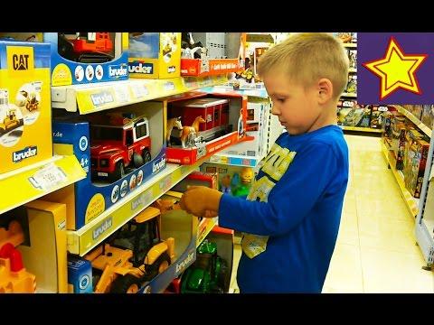 Игрушки для детей Шоппинг Покупаем игрушки машинки в Детском мире Shopping in kids store (видео)