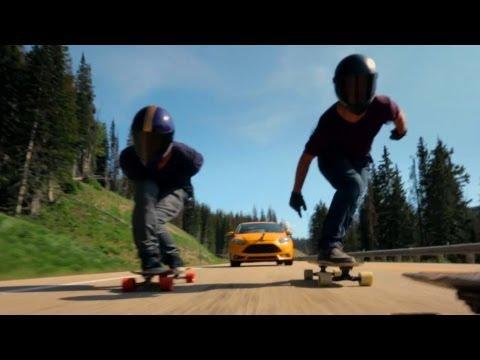 guardate cosa fanno questi pazzi con lo skateboard!