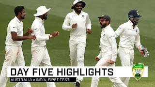 Video Aussies fight hard but India win gripping contest | First Domain Test MP3, 3GP, MP4, WEBM, AVI, FLV Desember 2018