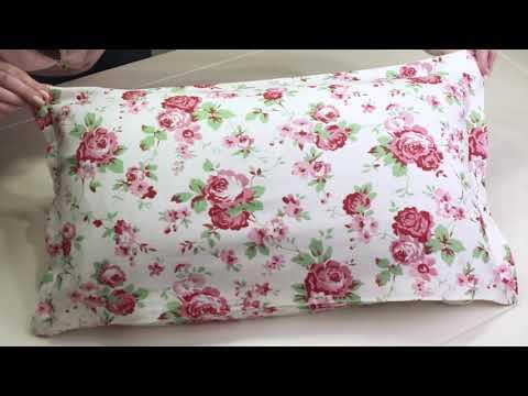 DIY Kissenbezug selbst machen OHNE Nähen - mit Saumband