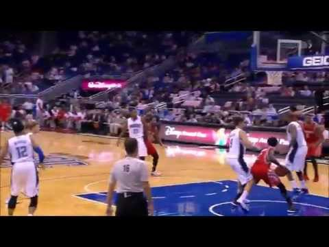 Kostas Papanikolaou stuffs Moe Harkless