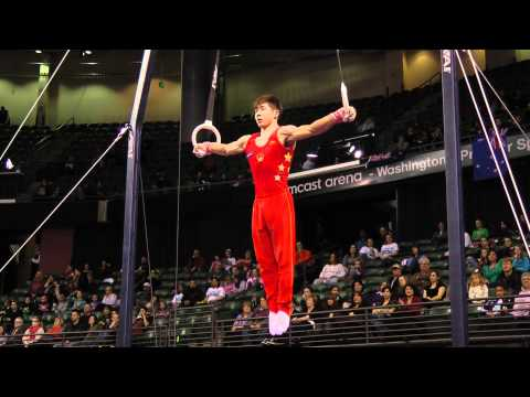 Guanhua Wu - Still Rings Finals - 2012 Kellogg's Pacific Rim Championships - 1st
