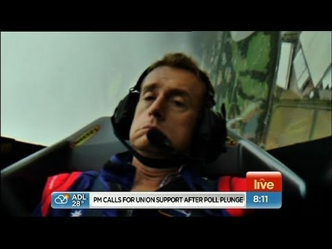 Weatherman passes out on LIVE TV in stunt plane