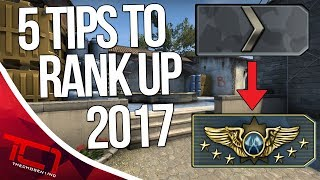"""5 TIPS To Rank Up In CS:GO - 2017. Today we talk about how to rank up in cs:go. What are some more tips you guys have to rank up in counter-strike:global offensive. Let me know how to rank up down in the comments below.Best Place to buy cheap csgo skins is   https://www.rpgah.com/, Use code""""JOB""""get a 3% discount!GIVEAWAY - https://gleam.io/LXWRt/win-awp-hyperbeast-ft★ Patreon - https://goo.gl/cZcV7R★ 2nd Channel - https://goo.gl/RyvCmn★Snacphat - TheChosen1inc★Instagram - https://goo.gl/cv1hvL★Twitch - http://goo.gl/kRBgH2★Twitter - https://goo.gl/xUmcOE★Steam Group - http://goo.gl/Radyih (Join For Updates)★Intro Song - https://goo.gl/L8qshP★Outro Song - https://goo.gl/sPD2Q1★Config - http://goo.gl/vCXbiKThechosen1inc is a cs go channel focused on talking about everything cs go. The focus is bringing you the latest cs go news and also opinions on the latest things going on in the counter strike global offensive community. Feel free to subscribe if your interested in counter strike global offensive content and the opinions of an angry man.Johnny BumbleFuck Is Always Watching ༼◕_◕༽Contact Email - Schonewise@gmail.com"""