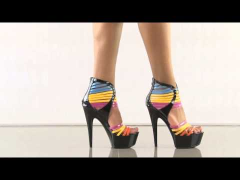 multiple heels and shoes - To purchase please visit: http://www.heels.com/womens-shoes/sunkiss-multi.html Party it up in the Sunkiss by Ellie! This colorful style shows off a blue, yel...