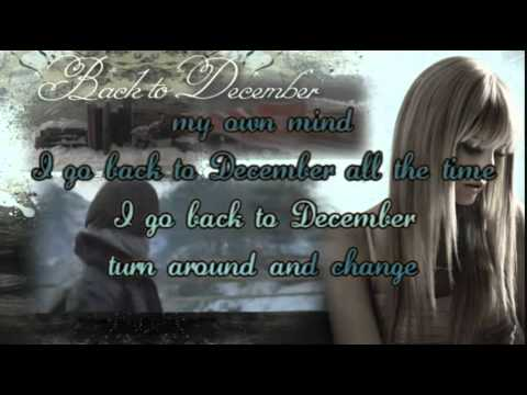 Back To December(karaoke).wmv