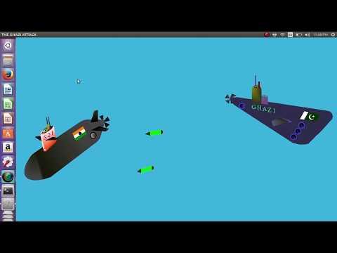 The Ghazi Attack (CG Mini Project, CSE)