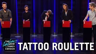 Video Tattoo Roulette w/ One Direction MP3, 3GP, MP4, WEBM, AVI, FLV Januari 2019