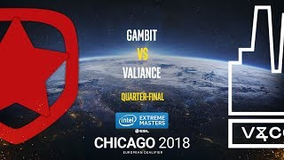Gambit vs Valiance - IEM Chicago 2018 EU Quals - map2 - de_train [ceh9]