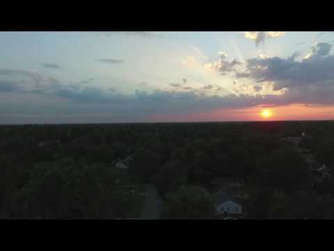 Drone Shot Sunset Over Springfield MO