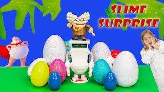 COLOR CHANGE Slime Surprise Eggs Captain Underpants Secret Slime with Paw Patrol and Cars 3 Color Ch