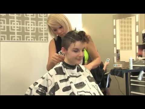 Short haircuts - Free TA77.net Video - Tuesday - Part 2: She Chops Off Her Long Hair With Clippers