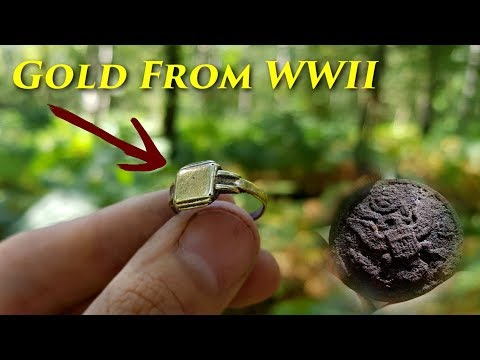 Metal Detecting WW2 - Found a Soldiers GOLDEN RING And BRACELET!  Amazing WWII Relics!