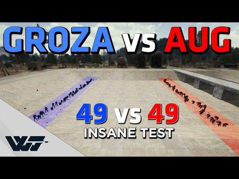 GROZA vs AUG - Which gun wins this insane 49vs49 OPEN COMBAT? - PUBG