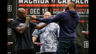 Bellator 213: King Mo Lawal vs. Liam McGeary Press Conference Staredown - MMA Fighting by MMA Fighting
