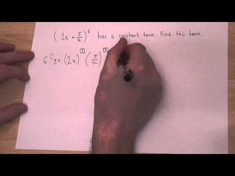 The Binomial Theorem : expanding brackets to find constant terms independent of x