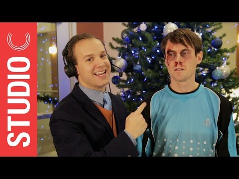 Scott - Goalkeeper Scott Sterling Gets a Christmas Present to the Face - Studio C. We're so grateful this spectacular goalkeeper stopped every penalty kick with his face that we decided to pitch in...
