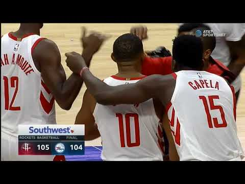 Eric Gordon hits the game-winning three at the BUZZER in Philly!