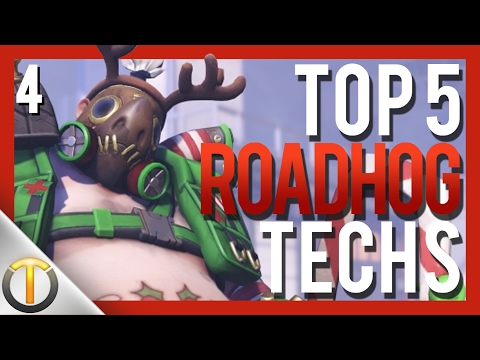 Top 5 ROADHOG TECHNIQUES #4 - Overwatch