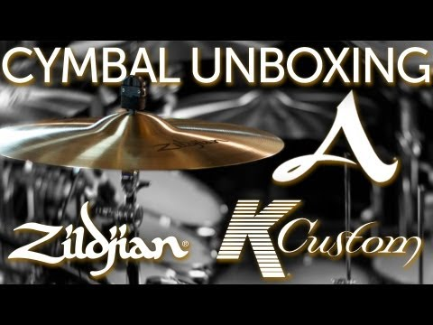 NEW Zildjian Cymbal Unboxing! NEW A Series & K Custom Hybrid cymbals!