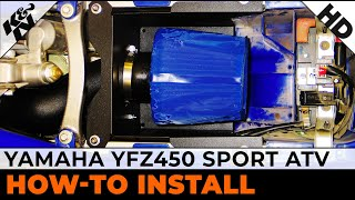 5. Air Intake Installation for 2004-2009 Yamaha YFZ450 Sport ATV