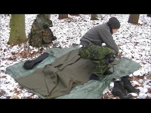 Sleeping in a wool blanket