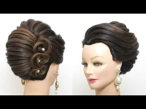 Hairstyles for long hair - Perfect French Roll. New Bridal Hairstyle For Long Hair Tutorial