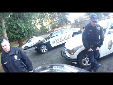 Dirt bike pulled over by cops  - GoPro