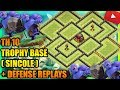 Clash Of Clans - Town Hall 10 (TH10) Trophy Base 2017 +Defense Replays |NEW BATTLE RAM UPDATE|ANTI 2
