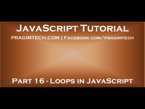 Loops in JavaScript